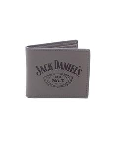 49cf4547693ea Szary portfel z logo Jack Daniel s