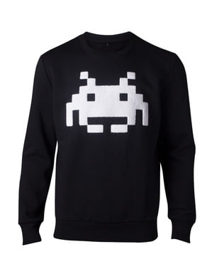 Felpa di Space Invaders per uomo