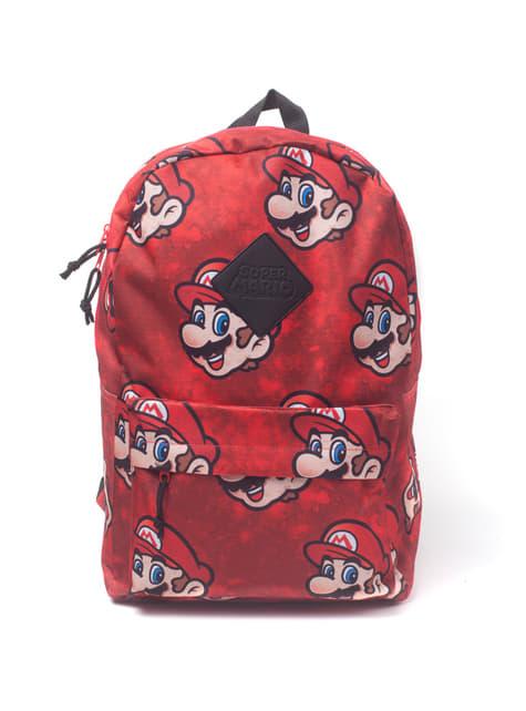 Mochila de Mario Bros Faces roja