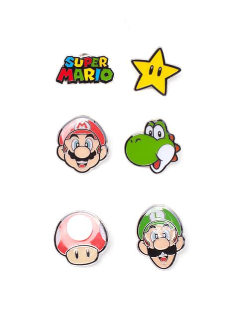 Conjunto de pins de Mario Bros - Super Mario Bros