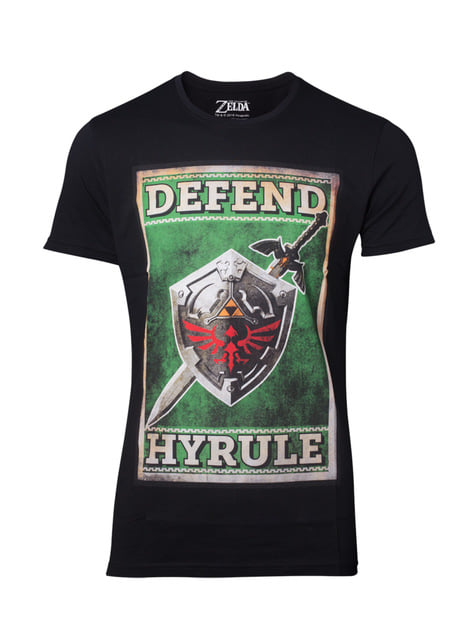 T-shirt de The Legend of Zelda Defend Hyrule para homem