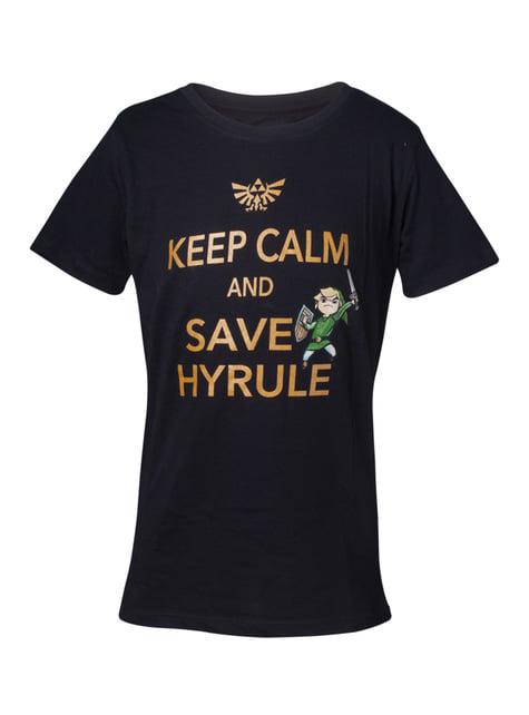 Camiseta de La Leyenda de Zelda Save Hyrule para niño
