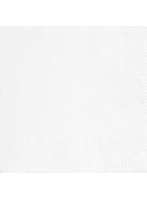 20 grandes serviettes blanches - Gamme couleur unie
