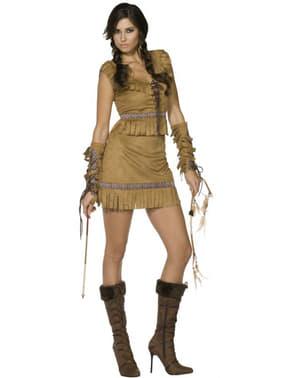 熱部族の女性のアダルトコスチューム