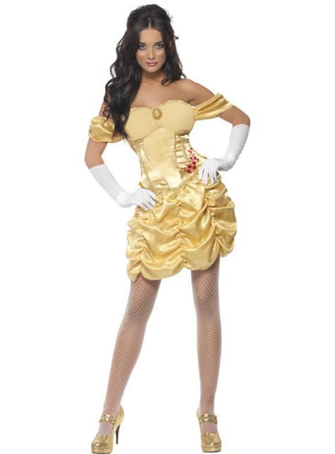 Maskeraddräkt prinsessa guldfärgad Fever dam