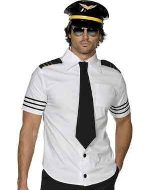 Disfarce de aviador para homem