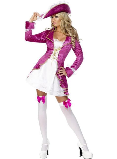 Pirat kostume sexy lilla til kvinder