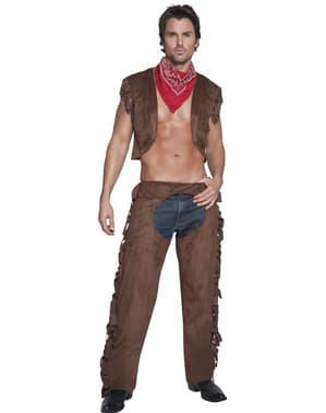 Лихоманка сексуальний костюм дорослих ковбой