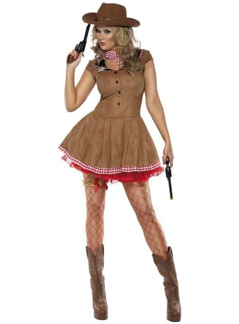 Секси дамски костюм на жена с оръжие, Fever