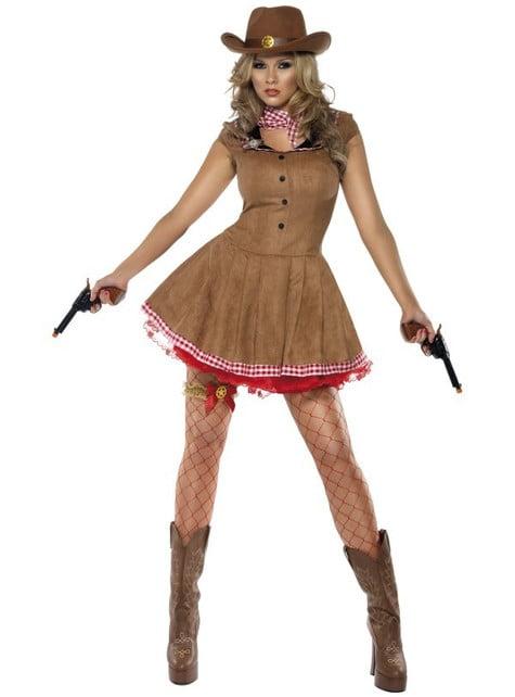 Disfraz de pistolera Fever - mujer
