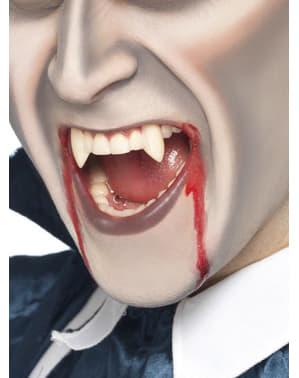 Spitze Vampir Zähne