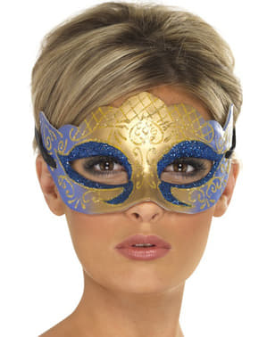 Benátská maska zlatá