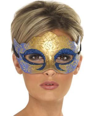 Maska wenecka złota