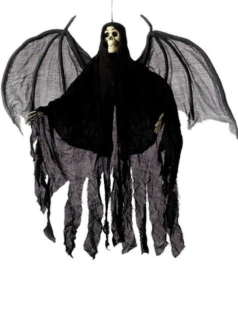 Decoração de anjo esqueleto