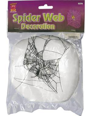 Dekoracja nitki pajęczyny białe