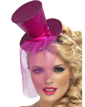 Mini hoedje roze Fever