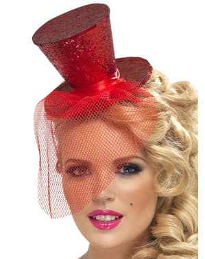 Mini kapelusik czerwony Fever