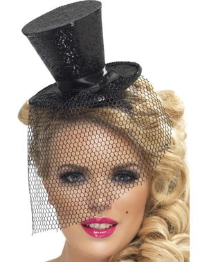 Fever Black Miniature Top Hat