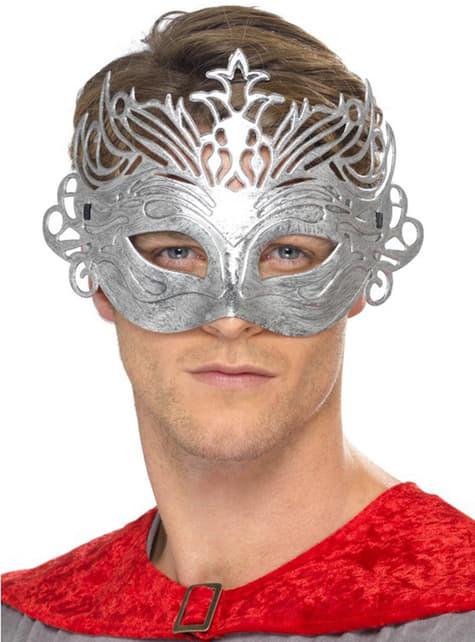 Maska colombina srebrna