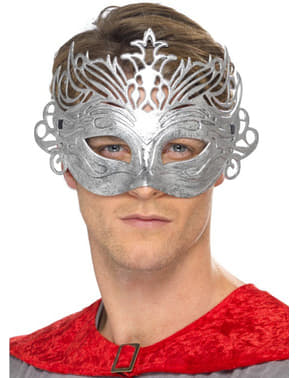 Máscara colombina plateada