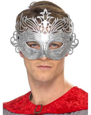 Máscara colombina prateada