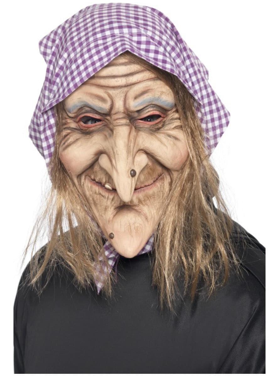 Maschera de Befana con capelli e fazzoletto c212f527d62e
