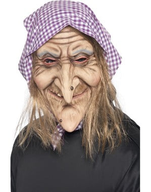 Máscara de bruxa velha