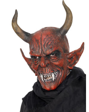 Máscara de demónio terrífico deluxe