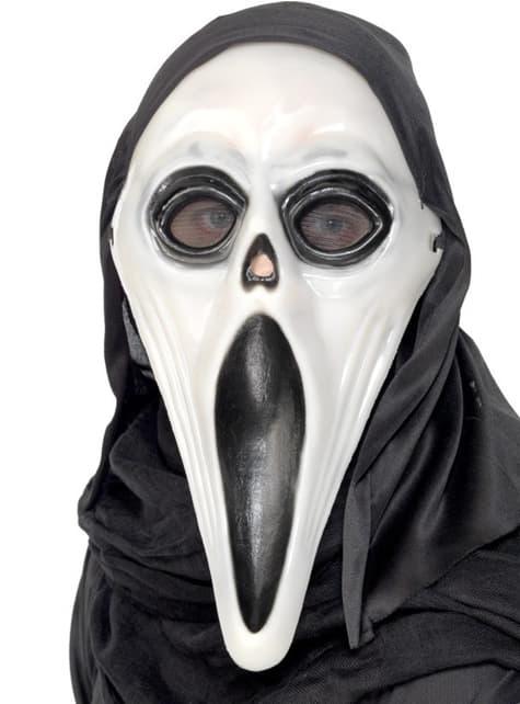Máscara de fantasma bicolor brillante en la oscuridad