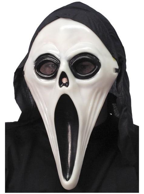Máscara de fantasma bicolor brillante en la oscuridad - para tu disfraz