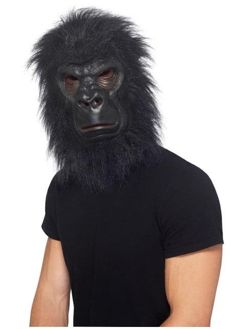 Gorillamask Svart
