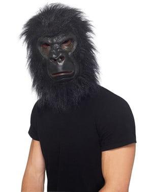 Schwarzer Gorilla Maske