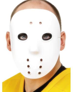 Máscara de hockey blanca