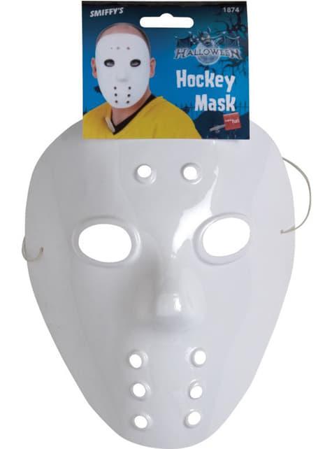 Mască de hockey albă
