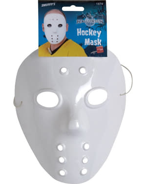 Maschera da hockey bianca
