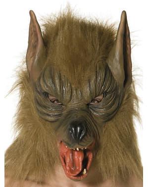 Máscara de lobo marrón