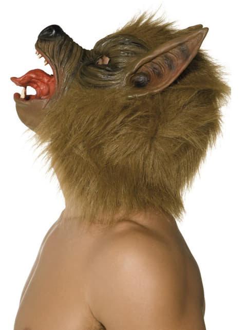 Maska wilk brązowy