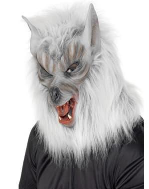 Werwolf Maske grau