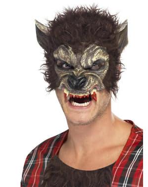 Werwolf Halbmaske mit blutigen Zähnen