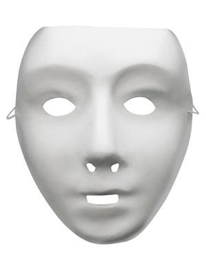 Weiße Basis Maske Classic