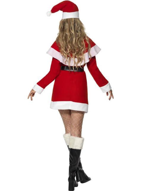 Fato de Miss Pai Natal com forro polar