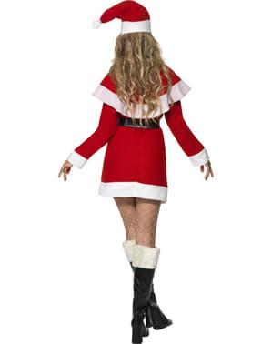Мис Санта възрастен костюм с кожена подплата