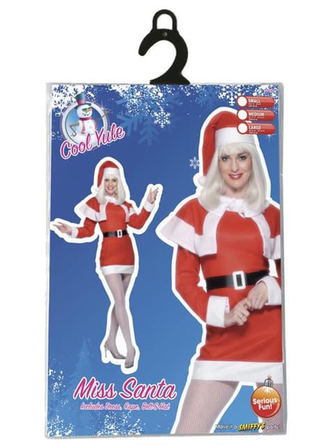 Disfraz de Miss Santa de forro polar - original