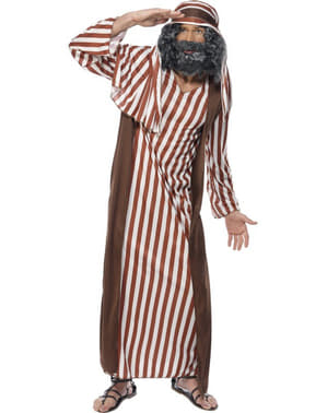 Brown & White Striped Shepherd Adult Costume