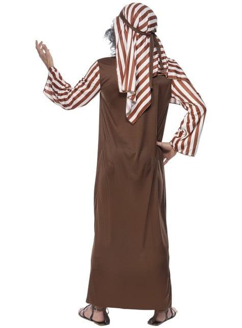 Disfraz de pastor de rayas marrones y blancas para hombre - hombre