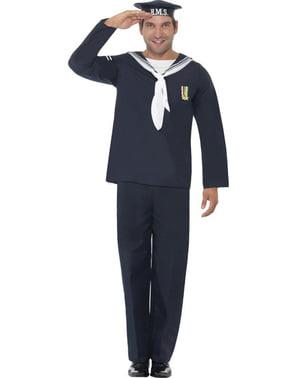 Marine Mann Kostyme Voksen