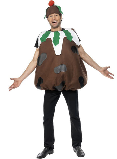 Sjokolade julepudding kostyme til voksen