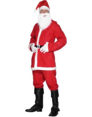 Fato de Pai Natal económico para homem