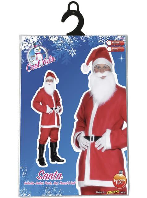 Disfraz de papá Noel económico para hombre