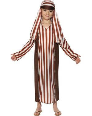 Costume da pastore marrone e bianco da bambino